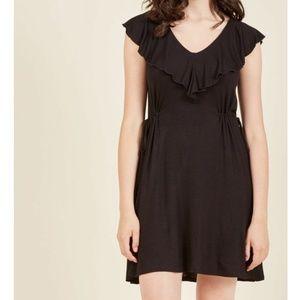 MODCLOTH ruffle drawstring cinch waist dress P23